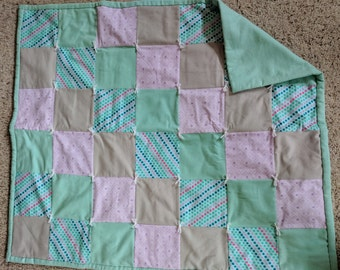 baby quilt with flannel back