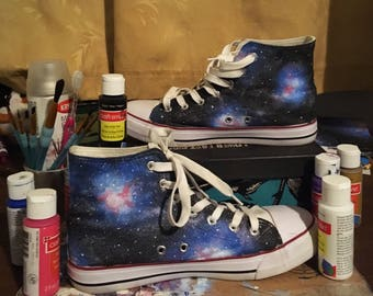 Hand Painted Galaxy Shoes Customizable