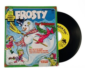 Vintage FROSTY THE SNOWMAN Peter Pan Records Four Favorite Songs 45rpm 1960s