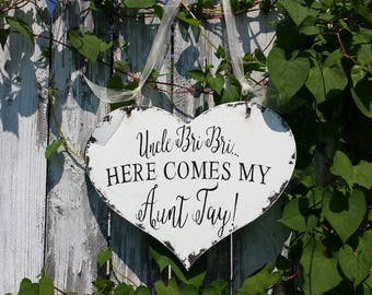HERE COMES Your BRIDE | Uncle Wedding Signs | Personalized | Wedding Signage | Ring Bearer Signs | Flower Girl Signs | Wedding Photo Props