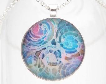 Pooling Light Art Pendant Necklace