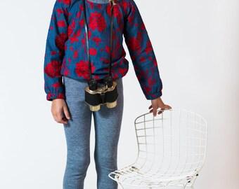 Denim look thick cotton rib leggings baby toddler unisex Supayana