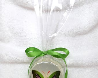 Handmade Glycerin Soap with Embedded Butterfly