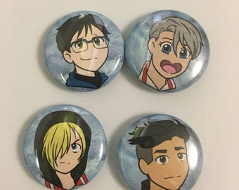 One Inch Button Set - Ice Skating OTPs