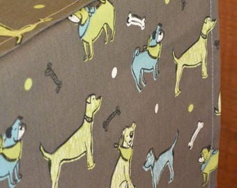 Designer Dog Crate Cover, Fuzzy Buddies Cover, YOU Choose Fabric, Crate Cover, Pet Crate Cover, Personalization & Grommets Extra