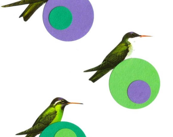 Contemporary Circle Art, Modern Bird Artwork
