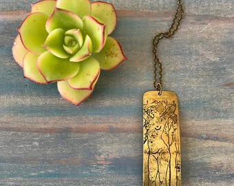 DEMETER // Etched Brass Necklace