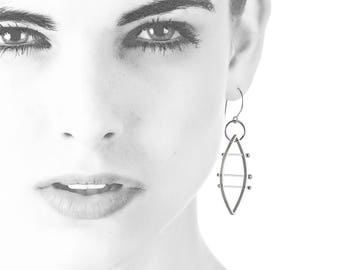 Maya Angelou Silver Sculptural Earrings | Modern Art Jewelry | Girl Power Jewelry
