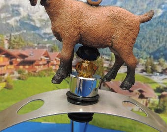 Goat Wine Stopper Oberhasli Swiss Milk Goat Wine Gift  Farm Animals