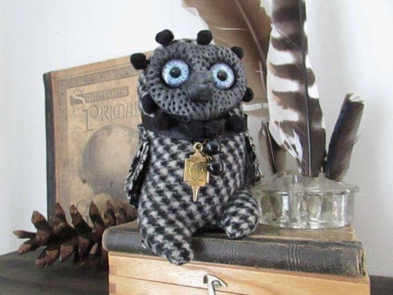 Owl - Soft Sculpture - Unique Art Owl - Soft Sculpture Owl - Handmade Owl - Bespoke Owl - Gift for Owl Lover - Woodland Creature - OOAK