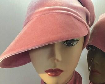 Blush Pink Velvet Beak HerHat