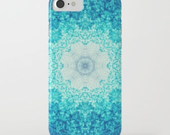 plastic case- Samsung Galaxy- iphone 6/6S case- kaleidoscope art- blue- modern design-abstract- Blue Waves iphone Case