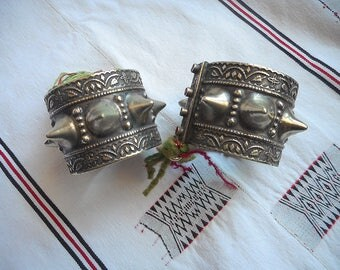 Pair of Vintage Kuchi Spiked cuffs. Old school quality, no sharp edges or points