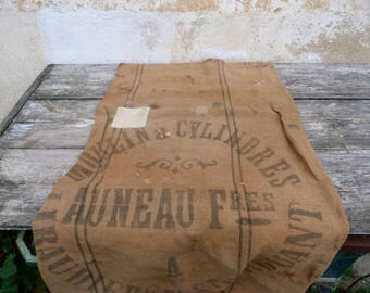 Vintage Antique 1850s French linen /Hessian bag  Flour bag Grain sack/Feed sack /Flour sack  Vendee