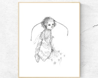 Moth -Black and White- Scandinavian Prints, Scandinavian Art, Nursery Wall Art, Kids Art, Nursery Decor, Scandi Kids, Scandinavian Nursery