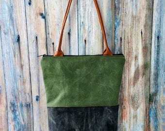 Canvas Bag - Canvas Tote Bag - Canvas Bags for Women - Canvas Tote Bag Zipper - Waxed Canvas Bag - Waxed Canvas Tote - Tote Bag - Tote