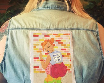 angry girls club - sew on patch