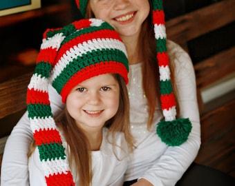 CROCHET PATTERN - CV130 Family Elf Hats - PDF Download