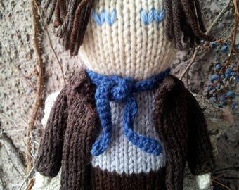 Sherlock Holmes - 9-10 inch hand knitted doll