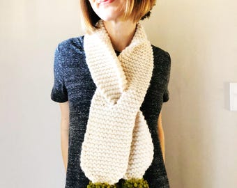 The Pom Scarf + Chunky Knit Scarf + Made to Order