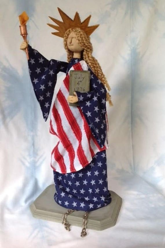 Cloth Doll E-Pattern America's Lady Statue of Liberty
