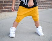 Baby Boy Baby Girl Solid Mustard Yellow Harem Shorts: Etsy kids fashion, toddler boy toddler girl, cloth diaper cover, cloth diaper friendly