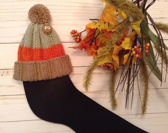Foot Surgery Gift/Unisex Cast Sock/Owl Lover Cast Sock/Get Well Gift/Toe Cozy/Toe Warmer/Ankle Cast/Autumn Colors Cast Sock/Owlkin Cast Sock