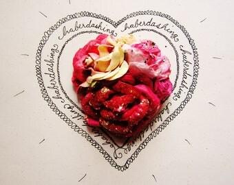 Cherry Vanilla pink cream glittered Handmade Roses Vintage style Millinery flower corsage