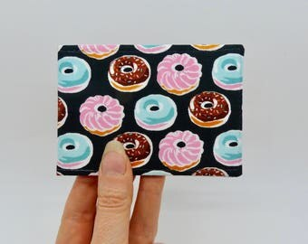 Oyster card holder, bus pass holder, travel card holder, wallet. Doughnut print wallet . Card wallet, Oyster card wallet, credit card holder