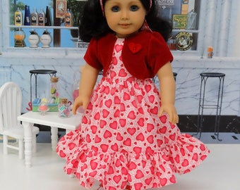Sweetheart - Valentine Dress for American Girl doll with jacket and shoes
