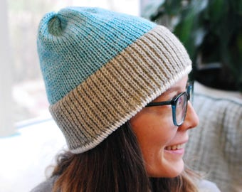 Basic Knit Hat // Pastel Mint // Warm Winter Accessory // Soft and Squishy