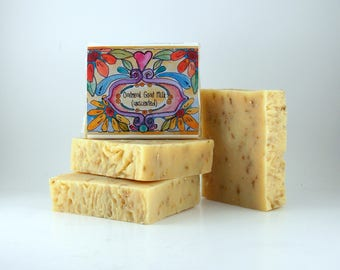 Oatmeal Goat Milk, UNSCENTED Handmade Soap, FREE SHIPPING in usa, All Natural, Made in the usa, American Made Gifts