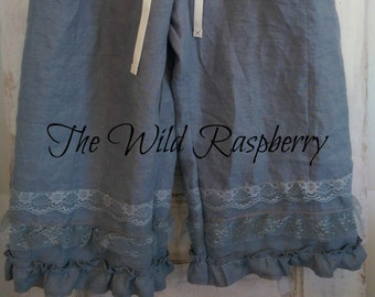 Linen Bloomers Ruffles and Lace The Wild Raspberry