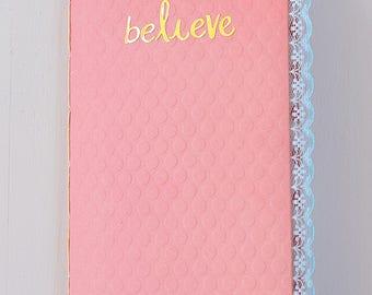 Believe Junk Journal Traveler's Notebook Insert