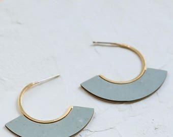 Memphis Earrings, Hoop Earrings, Scandinavian Design, Geometric Earrings, FORMICA® Earrings, Minimalist Design