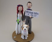 Bride & Groom Personalized Wedding Cake Topper - reserved for kcoeur