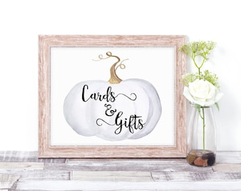 Cards & Gifts Sign - Wedding Cards and Gifts Sign - Fall Wedding Signs - Rustic Wedding Signs - Pumpkin Wedding Decor - Fall Bridal Shower