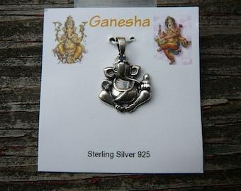 Sterling Silver Ganesha Pendant/Charm