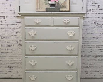 Chest of Drawers, White Cottage Style - Chic DR604 Shabby Farmhouse Chic, Dresser, Nursery Furniture