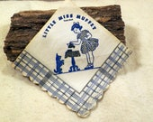 Vintage Set of Four (4) Little Miss Muffet Paper Napkins, Tea Party, 1930s-1940s, Pretend Play, Graphics