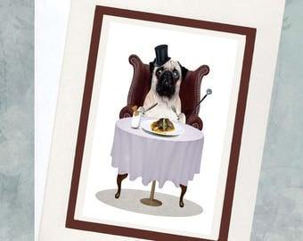 Pug Greeting Card - Pug Greeting Card- Humour Card - Pug Lover - Pug Life