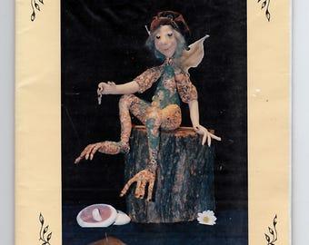 "Rainforest Elf cloth doll pattern - vintage factory folded Lynne Butcher Stuff 'n' Nonsense - 18"" doll"