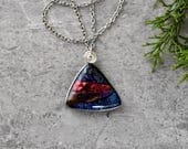 Big Mountain Dichroic Glass Pendant