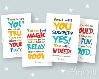 Dr seuss quote card Etsy