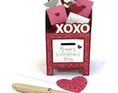 Pop Up Card Valentines Day Card, Sending My Love Pop Up Mailbox Card, Valentines Day Decor, Pop Up Anniversary Card Valentine Gift Idea 3D
