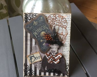 Spooky Halloween Card - Witch Halloween Card - Handmade Halloween