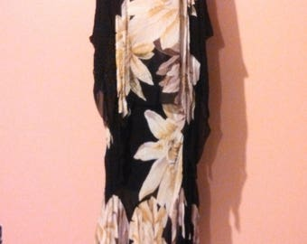 90s does 1920s Flapper Dress / Daffodil Dress / Rayon Dress / Great Gatsby / Flapper inspired / Old Hollywood / size 10