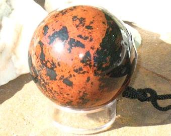 Mahogany Obsidian Sphere~Divination~Focal Point~Protection~Dark Goddesses - #3