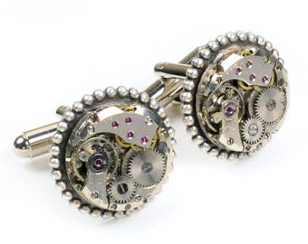 Vintage Watch Movement Steampunk Cuff Links
