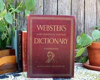 Vintage Webster's New Twentieth Century Dictionary / Unabridged Second Edition / 1959-1960